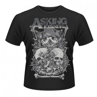 ASKING ALEXANDRIA Skull Stack, Tシャツ