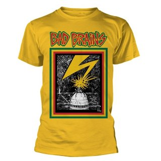 BAD BRAINS Bad Brains (yellow), Tシャツ<img class='new_mark_img2' src='//img.shop-pro.jp/img/new/icons5.gif' style='border:none;display:inline;margin:0px;padding:0px;width:auto;' />