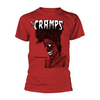 THE CRAMPS Bad Music For Bad People (red), Tシャツ