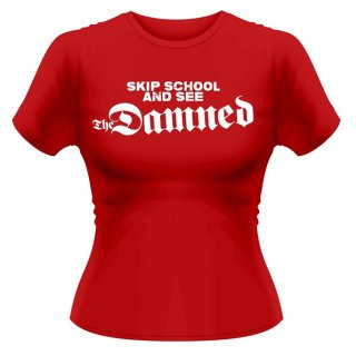 THE DAMNED Skip School, レディースTシャツ<img class='new_mark_img2' src='//img.shop-pro.jp/img/new/icons5.gif' style='border:none;display:inline;margin:0px;padding:0px;width:auto;' />