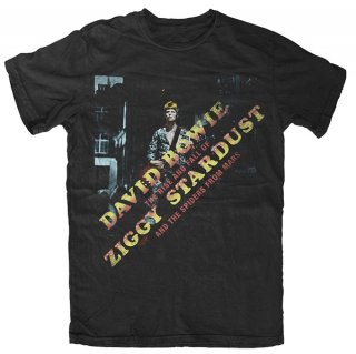 DAVID BOWIE Ziggy Diagonal Logo, Tシャツ
