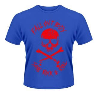 FALL OUT BOY Skull And Crossbones (blue), Tシャツ<img class='new_mark_img2' src='//img.shop-pro.jp/img/new/icons5.gif' style='border:none;display:inline;margin:0px;padding:0px;width:auto;' />