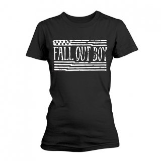 FALL OUT BOY Us Flag, レディースTシャツ<img class='new_mark_img2' src='//img.shop-pro.jp/img/new/icons5.gif' style='border:none;display:inline;margin:0px;padding:0px;width:auto;' />