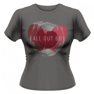 FALL OUT BOY Weathered Hearts, レディースTシャツ