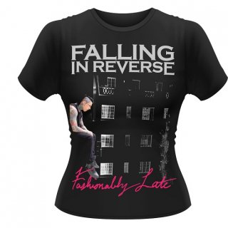 FALLING IN REVERSE Fashionably Late, レディースTシャツ<img class='new_mark_img2' src='//img.shop-pro.jp/img/new/icons5.gif' style='border:none;display:inline;margin:0px;padding:0px;width:auto;' />