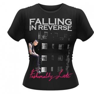 FALLING IN REVERSE Fashionably Late, レディースTシャツ