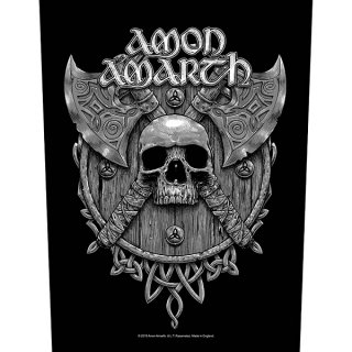AMON AMARTH Skull & Axes, バックパッチ