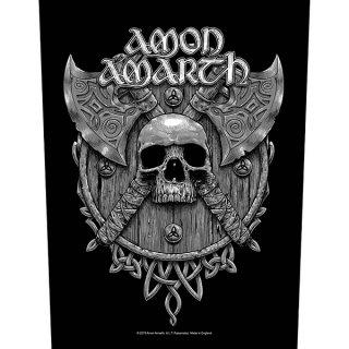 AMON AMARTH Skull & Axes, バックパッチ