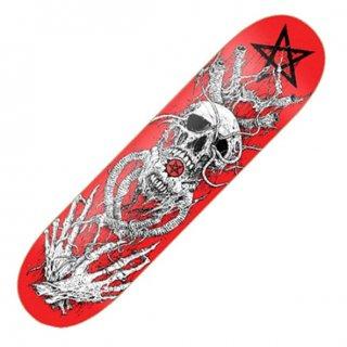 ARCH ENEMY Red Skull, スケートボードデッキ