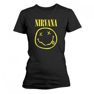 NIRVANA Smiley Logo, レディースTシャツ<img class='new_mark_img2' src='https://img.shop-pro.jp/img/new/icons5.gif' style='border:none;display:inline;margin:0px;padding:0px;width:auto;' />