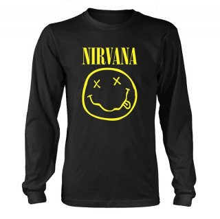 NIRVANA Smiley Logo, ロングTシャツ<img class='new_mark_img2' src='//img.shop-pro.jp/img/new/icons5.gif' style='border:none;display:inline;margin:0px;padding:0px;width:auto;' />