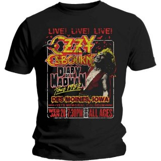 OZZY OSBOURNE Diary Of A Madman Tour, Tシャツ