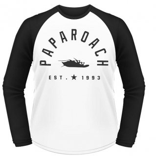 PAPA ROACH Est 1993, ラグランロングTシャツ<img class='new_mark_img2' src='https://img.shop-pro.jp/img/new/icons5.gif' style='border:none;display:inline;margin:0px;padding:0px;width:auto;' />