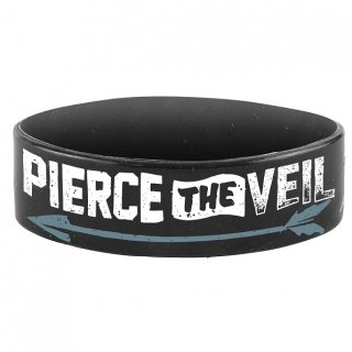 PIERCE THE VEIL Arrow, シリコンリストバンド<img class='new_mark_img2' src='https://img.shop-pro.jp/img/new/icons5.gif' style='border:none;display:inline;margin:0px;padding:0px;width:auto;' />