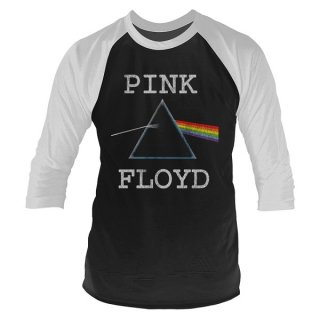 PINK FLOYD The Dark Side Of The Moon (distressed), ラグラン七分袖シャツ<img class='new_mark_img2' src='https://img.shop-pro.jp/img/new/icons5.gif' style='border:none;display:inline;margin:0px;padding:0px;width:auto;' />