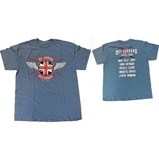 DEF LEPPARD 2018 Tour Union Jack, Tシャツ