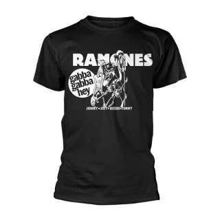 RAMONES Gabba Gabba Hey Cartoon, Tシャツ