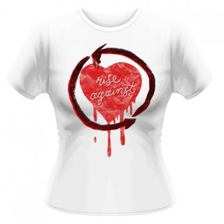 RISE AGAINST Rough Heart, レディースTシャツ<img class='new_mark_img2' src='https://img.shop-pro.jp/img/new/icons5.gif' style='border:none;display:inline;margin:0px;padding:0px;width:auto;' />