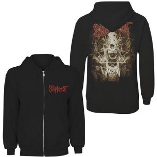 SLIPKNOT Skull Teeth, Zip-Upパーカー