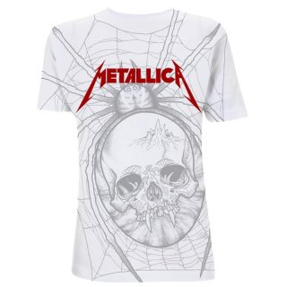 METALLICA Spider White A/o, Tシャツ