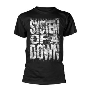 SYSTEM OF A DOWN Distressed Logo, Tシャツ