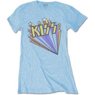 KISS Stars Blu, レディースTシャツ