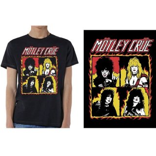 MOTLEY CRUE Shout At The Devil Flames, Tシャツ