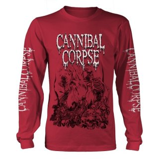CANNIBAL CORPSE Pile Of Skulls 2018 (red), ロングTシャツ<img class='new_mark_img2' src='https://img.shop-pro.jp/img/new/icons5.gif' style='border:none;display:inline;margin:0px;padding:0px;width:auto;' />
