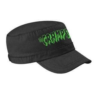 THE CRAMPS Green Logo, キャップ<img class='new_mark_img2' src='https://img.shop-pro.jp/img/new/icons5.gif' style='border:none;display:inline;margin:0px;padding:0px;width:auto;' />