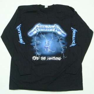 METALLICA Ride The Lightning Black, ロングTシャツ