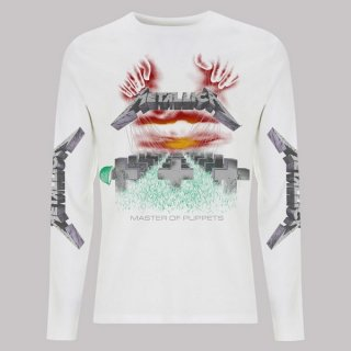 METALLICA Mop White, ロングTシャツ