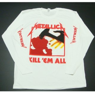 METALLICA Kill Em All White, ロングTシャツ