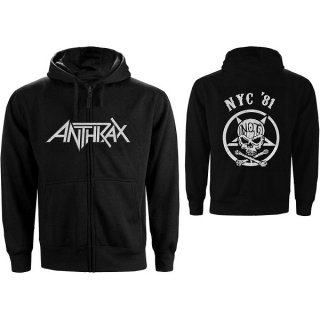 ANTHRAX Not Man Nyc, Zip-Upパーカー