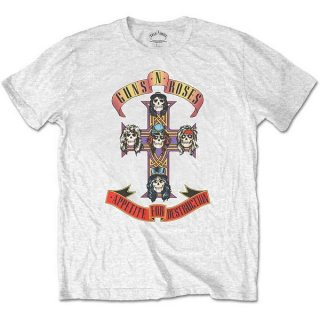 GUNS N' ROSES Appetite For Destruction Wht, Tシャツ
