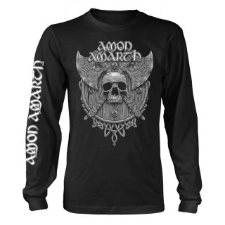 AMON AMARTH Grey Skull (black), ロングTシャツ<img class='new_mark_img2' src='https://img.shop-pro.jp/img/new/icons5.gif' style='border:none;display:inline;margin:0px;padding:0px;width:auto;' />