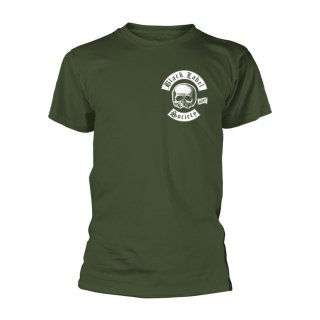 BLACK LABEL SOCIETY Skull Logo Pocket (olive), Tシャツ