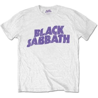 BLACK SABBATH Wavy Logo Vintage Wht, Tシャツ<img class='new_mark_img2' src='https://img.shop-pro.jp/img/new/icons5.gif' style='border:none;display:inline;margin:0px;padding:0px;width:auto;' />