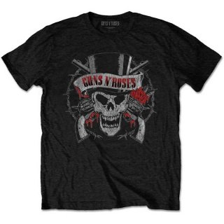 GUNS N' ROSES Distressed Skull, Tシャツ