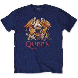 QUEEN Classic Crest Navy, Tシャツ