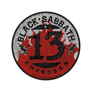 BLACK SABBATH 13 Flames Circular, パッチ<img class='new_mark_img2' src='https://img.shop-pro.jp/img/new/icons5.gif' style='border:none;display:inline;margin:0px;padding:0px;width:auto;' />