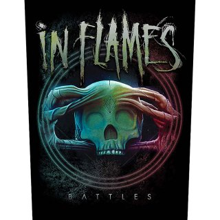 IN FLAMES Battles, バックパッチ<img class='new_mark_img2' src='https://img.shop-pro.jp/img/new/icons5.gif' style='border:none;display:inline;margin:0px;padding:0px;width:auto;' />
