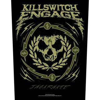 KILLSWITCH ENGAGE Skull Wreath, バックパッチ<img class='new_mark_img2' src='https://img.shop-pro.jp/img/new/icons5.gif' style='border:none;display:inline;margin:0px;padding:0px;width:auto;' />