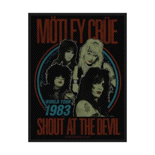 MOTLEY CRUE Shout at the Devil, パッチ<img class='new_mark_img2' src='https://img.shop-pro.jp/img/new/icons5.gif' style='border:none;display:inline;margin:0px;padding:0px;width:auto;' />