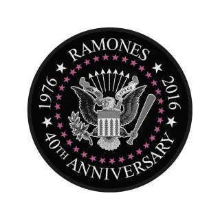RAMONES 40th Anniversary, パッチ<img class='new_mark_img2' src='https://img.shop-pro.jp/img/new/icons5.gif' style='border:none;display:inline;margin:0px;padding:0px;width:auto;' />