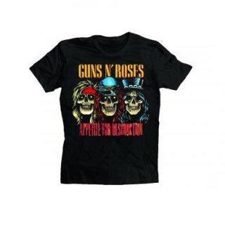 GUNS N' ROSES Afd Skulls, Tシャツ
