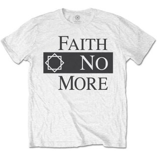 FAITH NO MORE Classic Logo V.2. Wht, Tシャツ