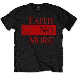 FAITH NO MORE Classic New Logo Star Blk, Tシャツ