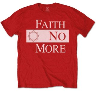 FAITH NO MORE Classic New Logo Star Red, Tシャツ