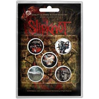 SLIPKNOT Albums, バッジセット