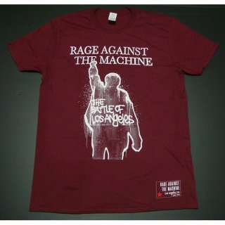 RAGE AGAINST THE MACHINE Ratm Bola Album Cover Maroon, Tシャツ